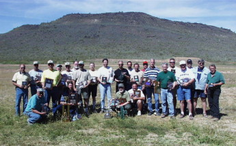 The annual Cactus Classic benchrest match held at the Ben Avery range north of Phoenix. A picture of the winners from that year. Dan is 4th from the left in the back row. His placings of merit included 2nd in the Light Varmint 100 yard event, 9th in the Heavy varmint 100 yard, 13th in the Heavy Varmint Grand and 7th in the 2-Gun event. There were about 240 shooters. The two rifles he shot were both Lilja barreled 6 PPC's.