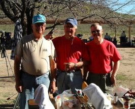 Jim Patten, Lee Ford and Dan at the Cactus Classic NBRSA benchrest match in 2001.