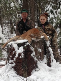 Kassidy Kinzie and her uncle Cory Ovitt with her 2016 Montana Mountain Lion. Nice work from the Kinzie girls!