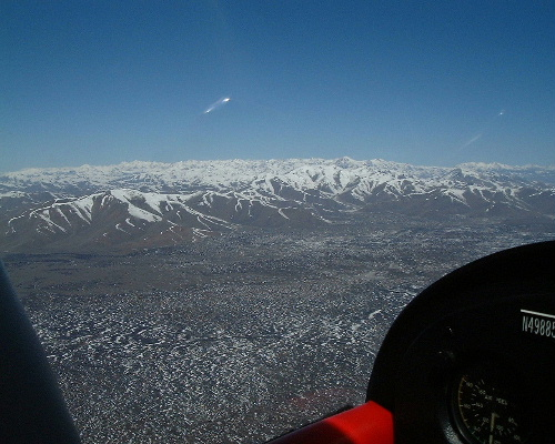 Over the mountains of southern Idaho at 10,500'.