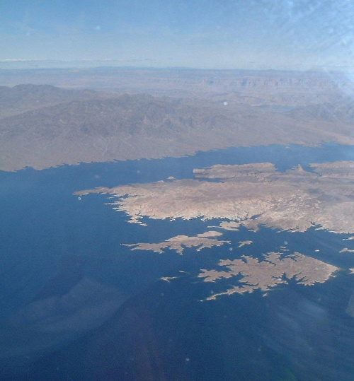 Lake Mead in the afternoon.