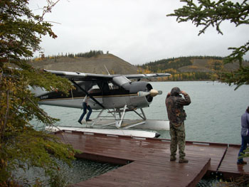 We'd soon leave for Tuya Lake, British Columbia on this Beaver. This is the float pond at Whitehorse, Yukon.