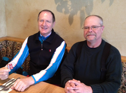 Heinrich Bleiker and Dan Lilja in February of 2014 on a ski trip in Colorado.