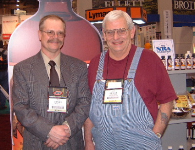 Pictured are Dan and Butch Fisher at the 2004 Shot Show.
