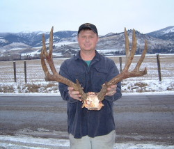 Cory Ovit with a dandy mule deer from the 2000 Montana season.