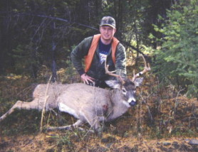 Cory Ovitt with another nice whitetail buck he shot with his Lilja barrelled rifle.