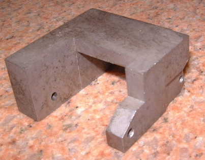 The completed jig sitting on a granite plate. This one was carburized.