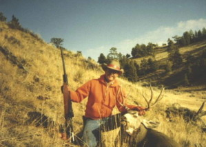 Here is a 4-point mule deer Dan shot in the 1980's with a .300 Winchester Magnum.