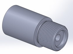 Model of a Remington 700 thread and counterbore.